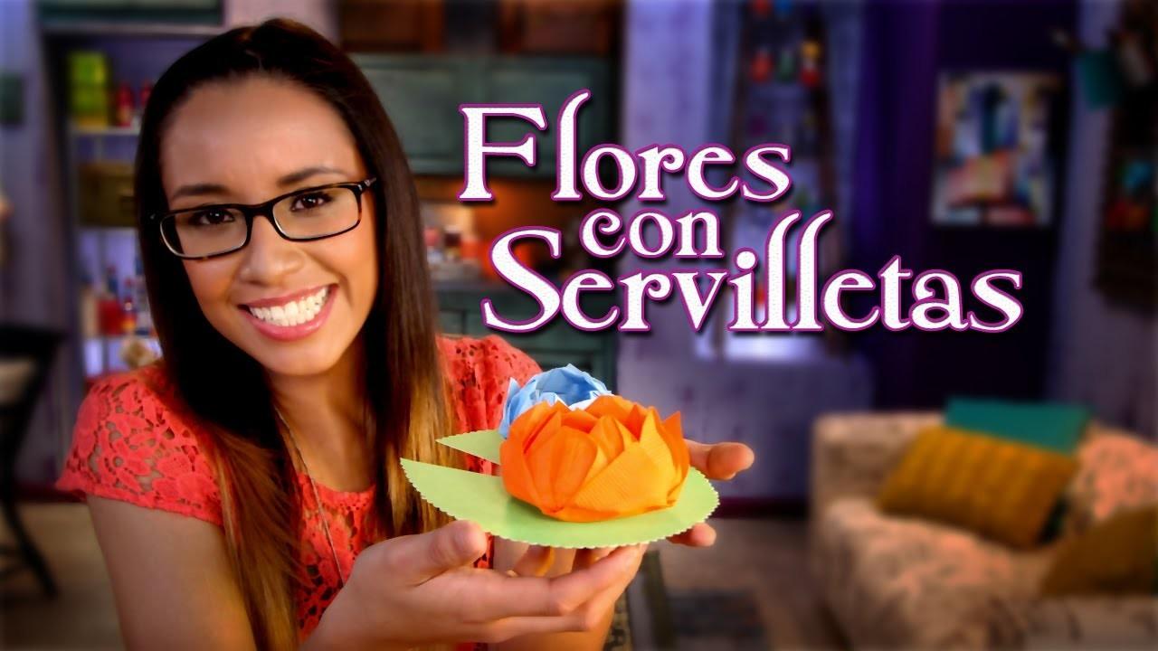 Flor con Servilletas ¡Sorpresa fácil! - Crafting Studio