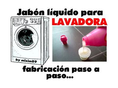 Jabón líquido para lavadora, fabricación paso a paso.  by mixim89