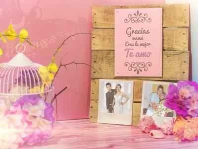 Letrero colgante para MAMÁ vintage (día de las madres)