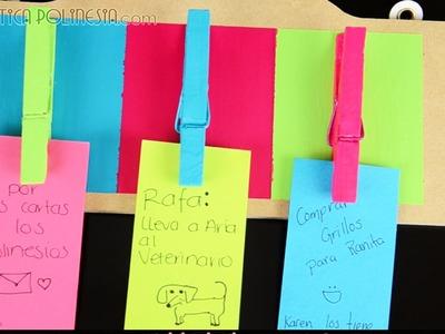 Manualidad: Sujetador de notas | Hazlo tu mismo, decoración para habitación | ( tu cuarto )