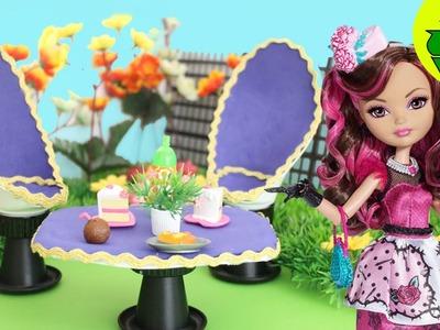 Manualidades para muñecas: Sillas + Mesa para el Jardin de tus Muñecas