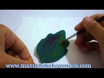 Matizando hojas de goma eva o foamy