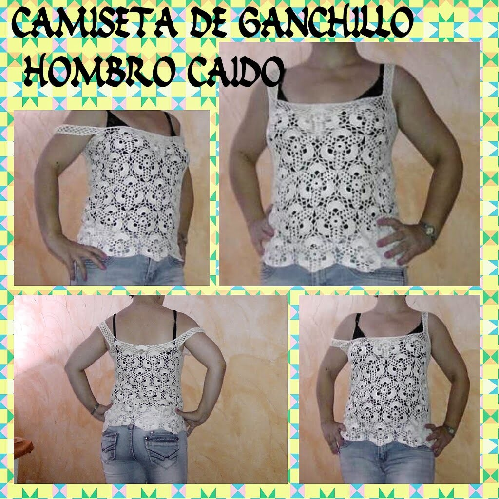 Tutorial:CAMISETA DE GANCHILLO DE HOMBRO CAIDO