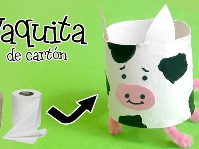 Vaca de cartón | Manualidades con reciclaje