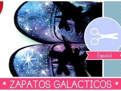 ZAPATOS GALAXIA: como decorar tus zapatos con efecto COSMICO!