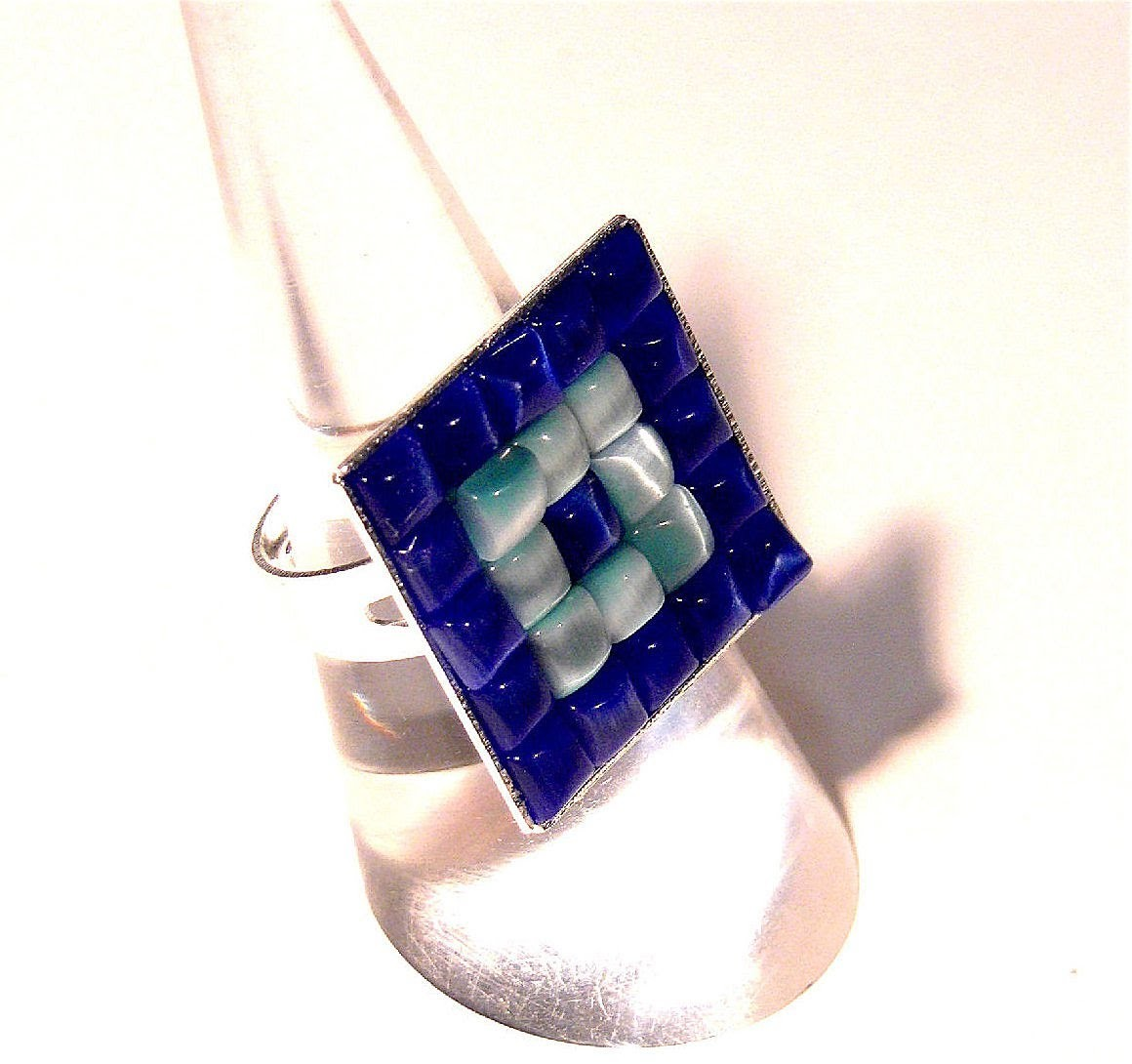 Abalorios Manualidades - Anillo con mosaico