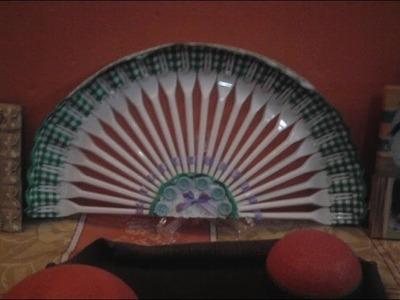 Abanico con tenedores de plástico
