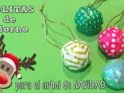 Bolitas de navidad para el árbol : Manualidad fácil