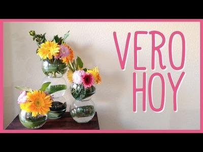 Centro de Mesa con flores frescas facil