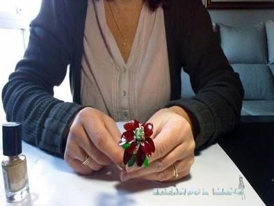 Cómo hacer flores de Navidad con alambre y esmalte