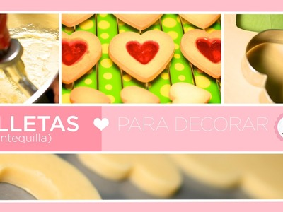 Como hacer galletas de mantequilla. How to make Butter Cookies