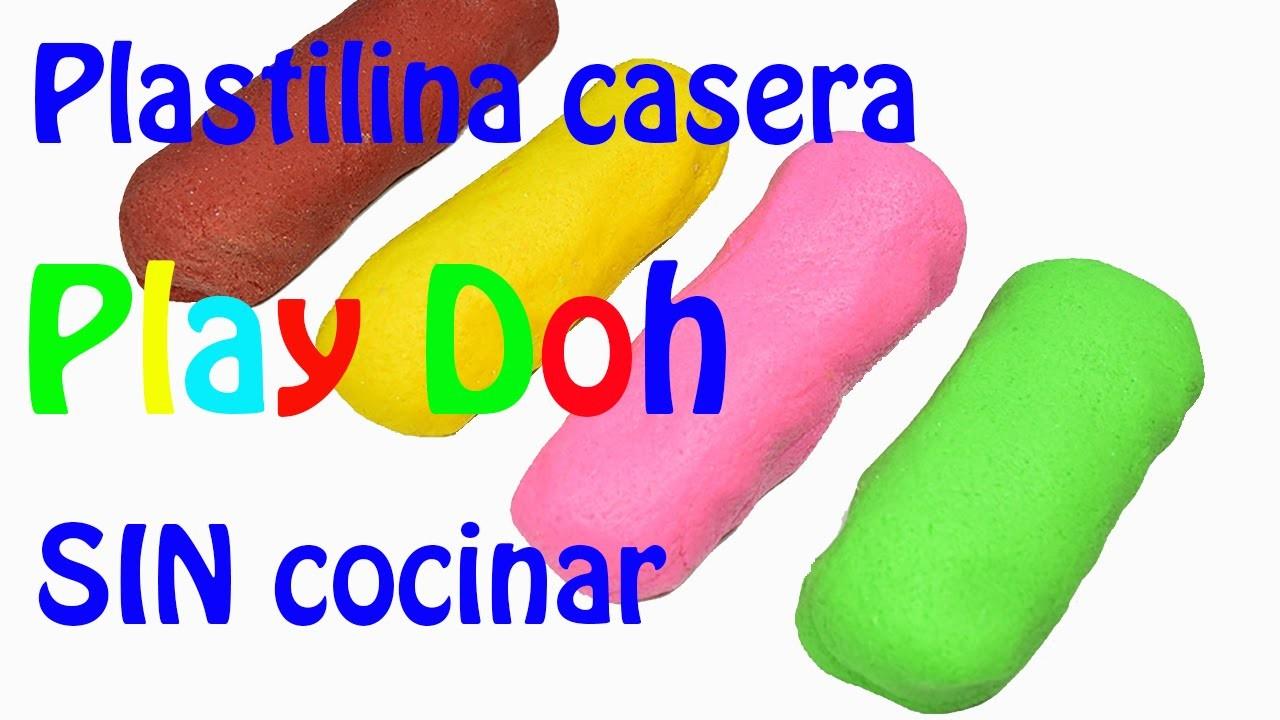 Como hacer Plastilina Casera tipo Play Doh SIN cocinar.