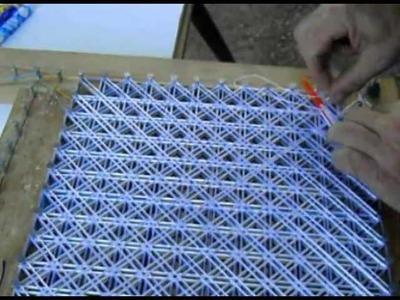 Cómo hacer tapetes de hilo de seda, Pompon (5.9), Cosido de hilos