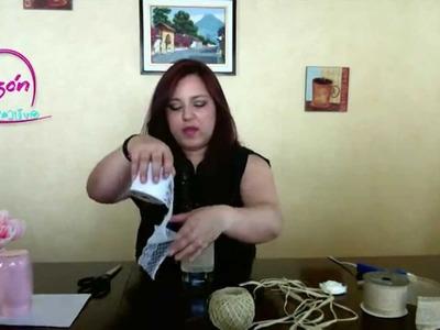 Como hacer un Centro De Mesa Para Boda (Vintage)