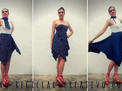 Cómo hacer una falda de cuatro picos sin coser - Skirt without sewing