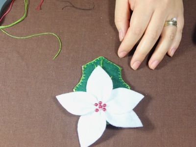 Como Hacer una Flor de Nochebuena Tutorial (1.3)
