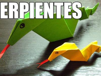 Como hacer una serpiente de papel | Manualidades y origamis con papel paso a paso (Muy fácil)