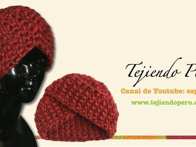 Cómo tejer un gorro tipo turbante en ganchillo tunecino (o ea7c57a5c71