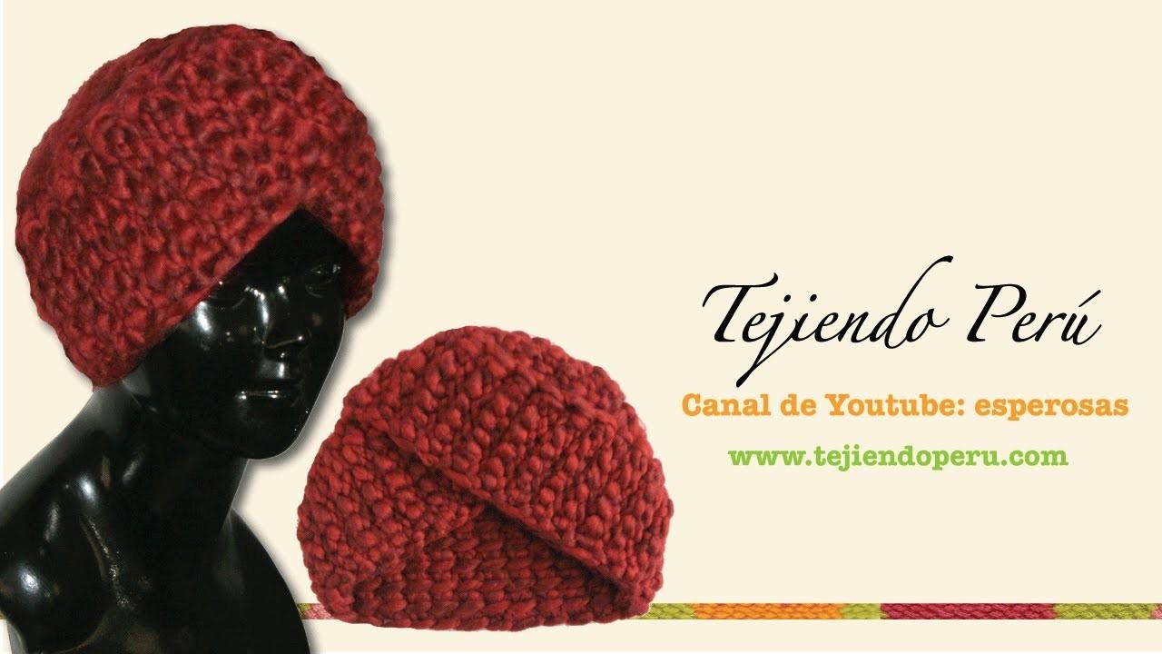 Cómo tejer un gorro tipo turbante en ganchillo tunecino (o cualquier técnica!)