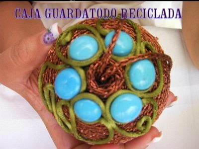 DIY CAJA GUARDA COSAS RECICLADA, CHUPETERO