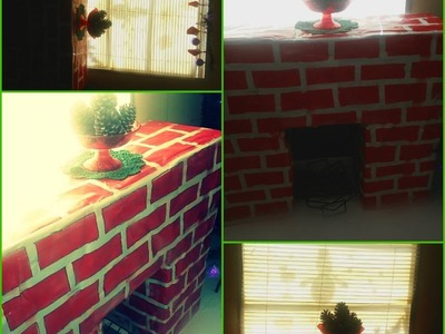 DIY chimenea de carton para navidad (petision)