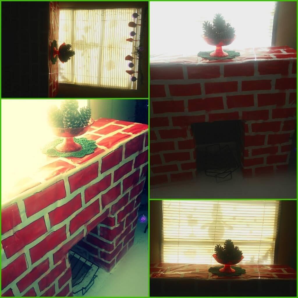 Diy chimenea de carton para navidad petision - Hacer chimenea decorativa ...
