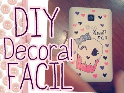 DIY ! Como decorar tu celular muy fácil!! Con esmalte de uñas ♥