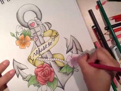 ♥ DIY Dibujo de Ancla. Anchor Sketch ♥