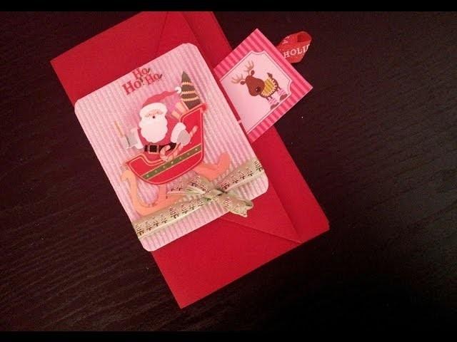 Especial De Navidad (2013) Como Hacer Una Tarjeta Con Bolsillo Para Navidad. Facil