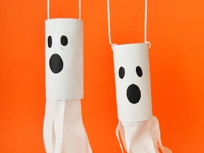 Fantasma colgante. Manualidades para niños