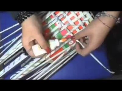 """MANUALIDADES """"Tutorial Cesto hecho con periodico"""" manualidades Recicladas"""