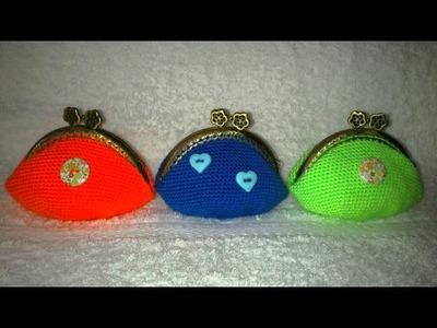 Monederos de Crochet.  Mi pequeña colección.