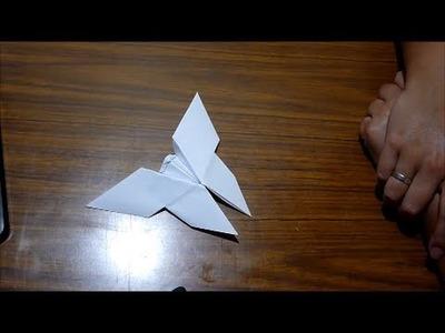 Origami: Manualidades con papel | Como hacer una mariposa en Origami (con Papel)