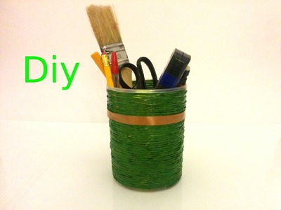 Portalapices y organizador escolar. DIY, manualidades.