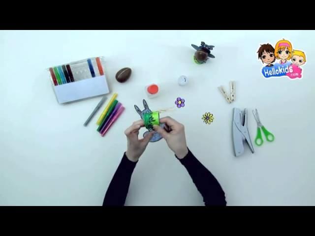 Video manualidades portahuevos CONEJO DE PASCUA (Hellokids)