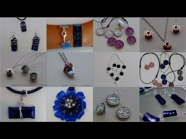 Bisutería realizada con material reciclado. Jewelry made out of recycled materials