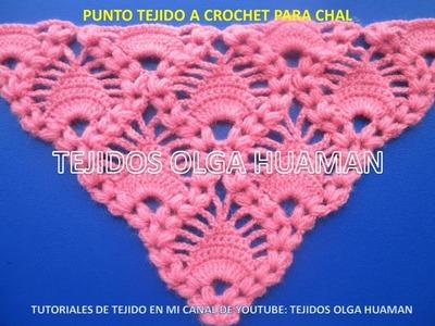 Chal tejido a crochet o ganchillo video 1