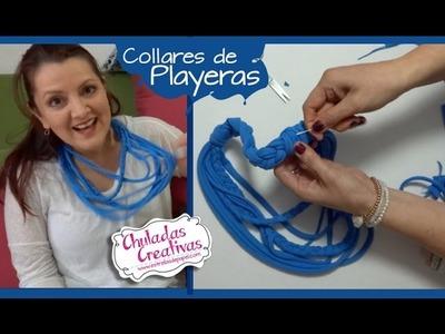 Chuladas Creativas :: Collares con Playeras 2 :: Manualidades