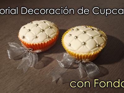Cómo decorar cupcakes con fondant - ¡Tutorial fácil!