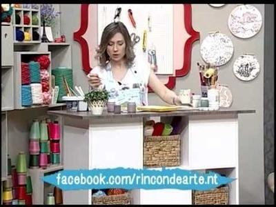 Como decorar una maceta - Pintura