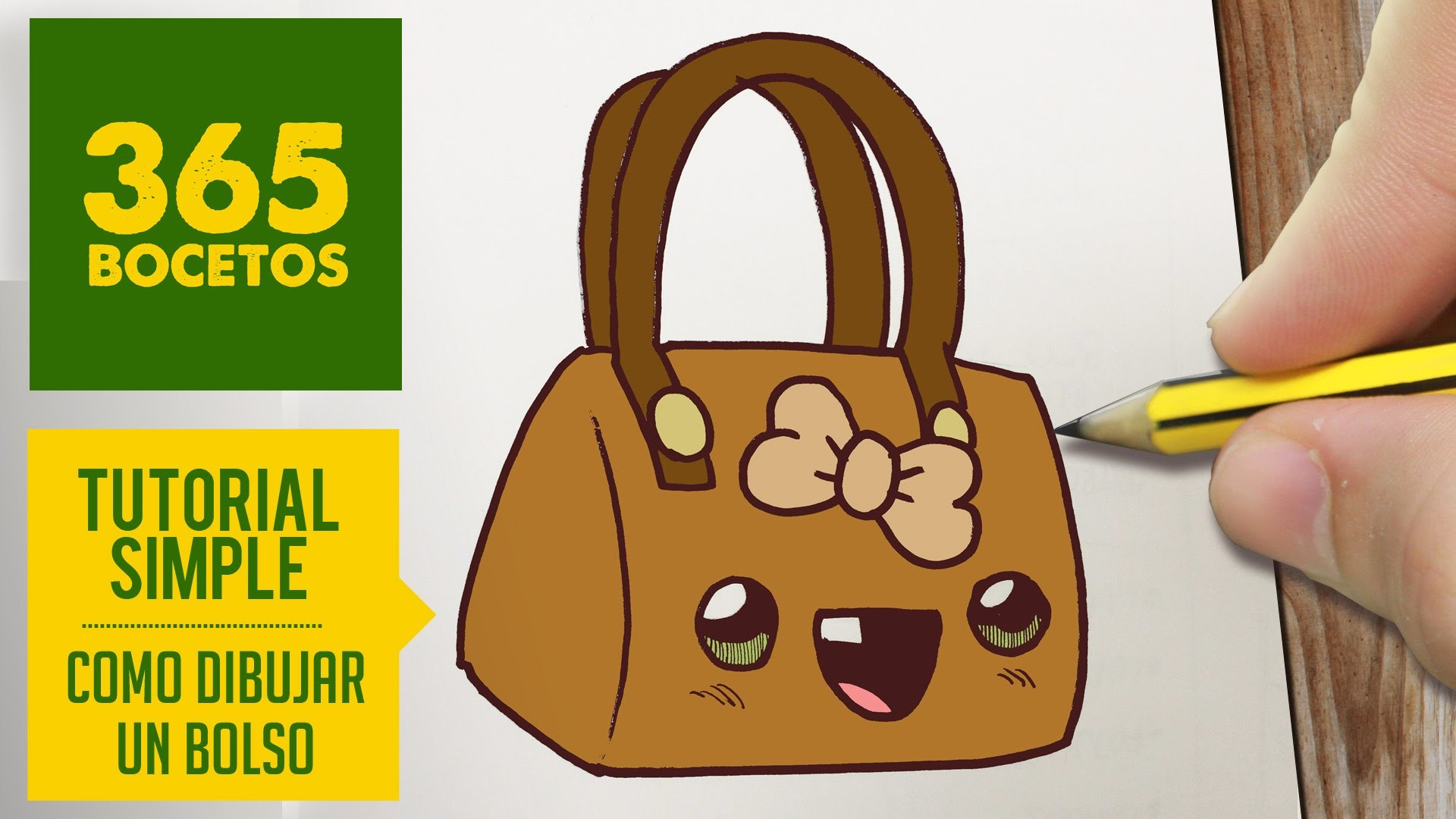 COMO DIBUJAR UN BOLSO KAWAII PASO A PASO - Dibujos kawaii faciles - How to draw a bag