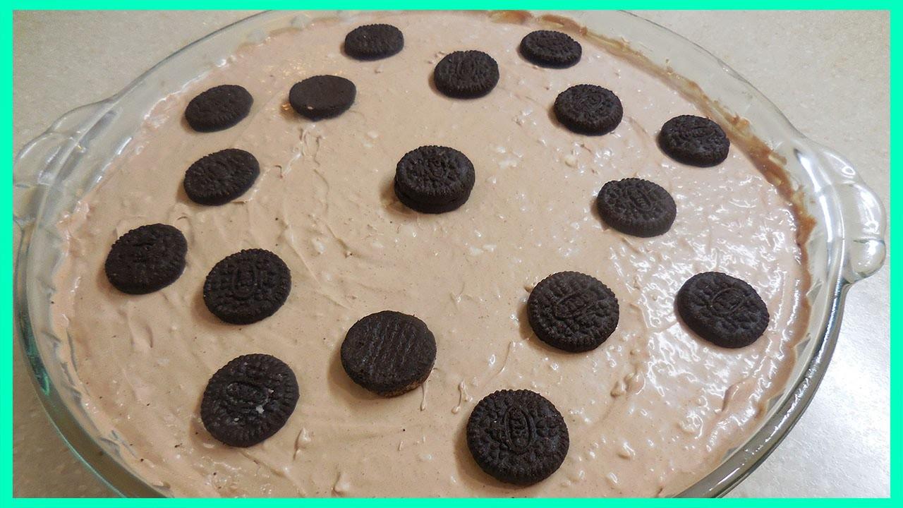 Cómo hacer PIE (PAY) de Chocolate Nutella Sin Horno - Fácil