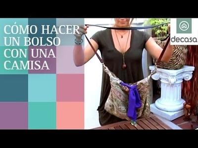 Cómo hacer un bolso con una camisa vieja | El rey del reciclaje