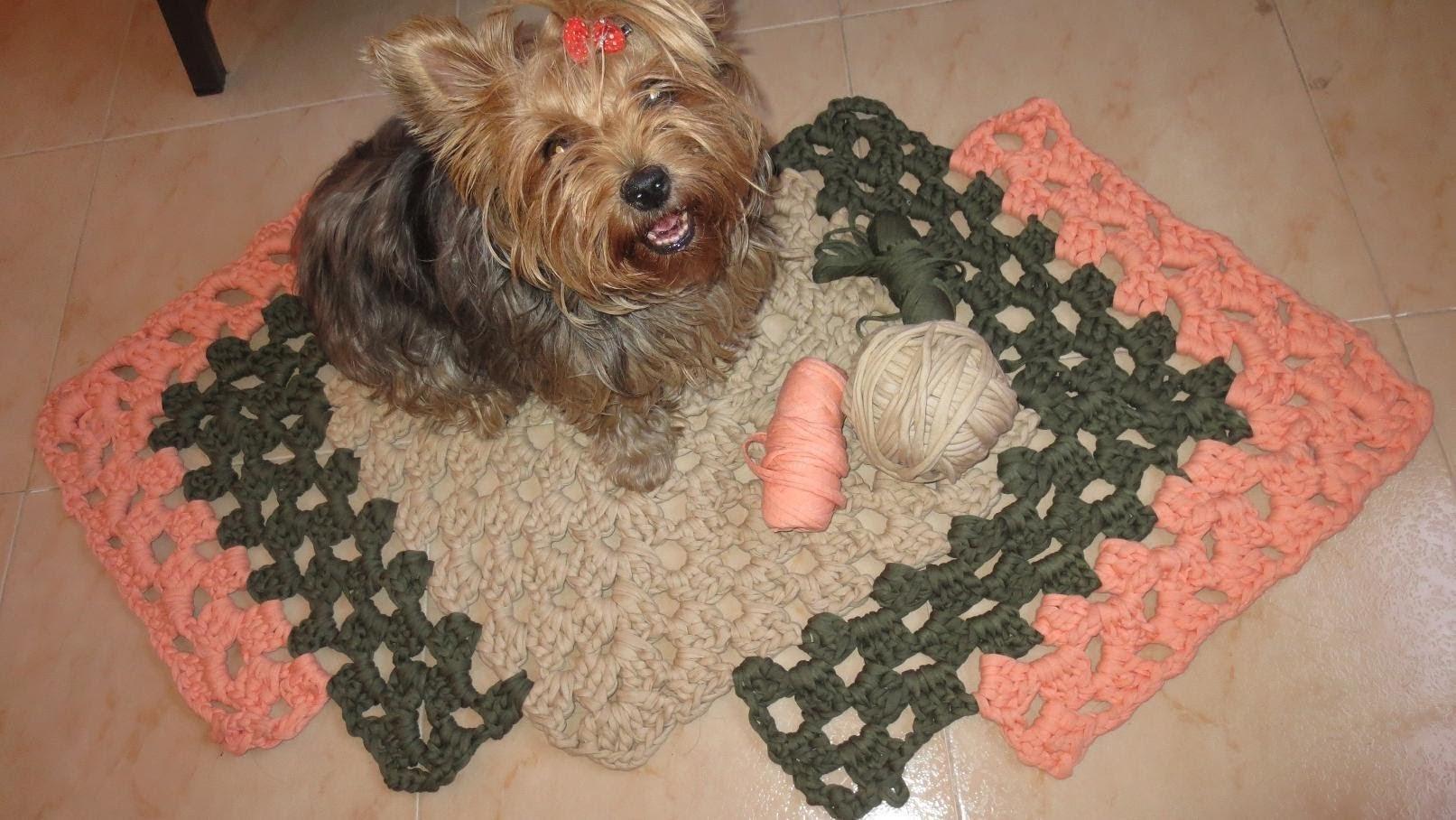 Como hacer una alfombra 1 parte