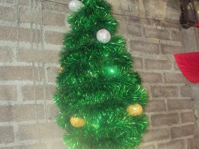 Como hacer una piñata navideña facil y rapido ARBOL DE NAVIDAD