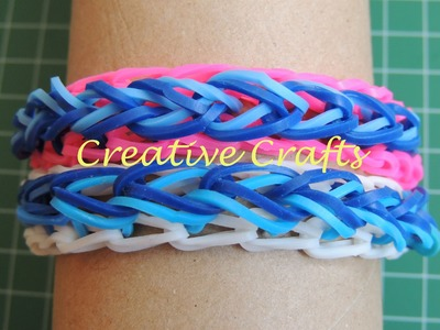 Como hacer una pulsera de gomitas gotas de lluvia. Rainbow Loom Raindrop bracelet.