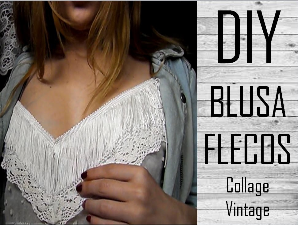 DIY Blusa inpiración Collage Vintage - Fácil | Monica Beneyto