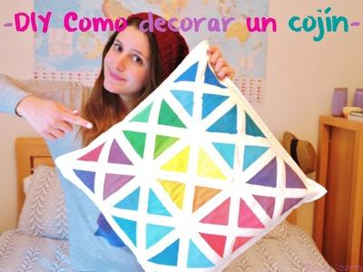 DIY Como decorar un cojín. DIY How to decorate a pillow