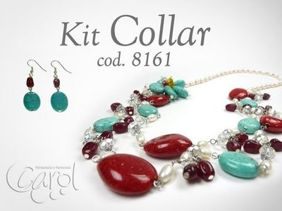 KIT 8161 Kit collar turqueza red x und