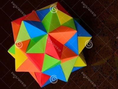 Origami bolas multicolor, bonitas y practicas para decorar
